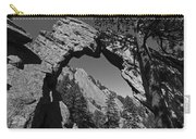 Royal Arch Trail Arch Boulder Colorado Black And White Carry-all Pouch