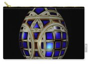 Royal Blue Egg With White Enamel And Goldleaf Carry-all Pouch