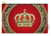 Royal Crown In Gold On Red  Carry-all Pouch