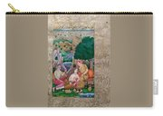 Royal Maharaja India King Emperor Miniature Painting Artwork  Carry-all Pouch