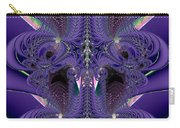 Royal Purple Backbone Fractal Abstract Carry-all Pouch