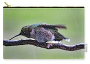 Rubbing Its Bill - Ruby-throated Hummingbird Carry-all Pouch