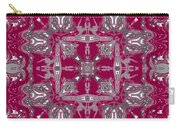 Rubies And Silver Kaleidoscope Carry-all Pouch