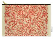 Rubino Red Floral Carry-all Pouch