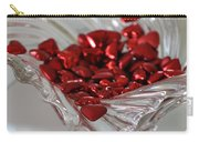 Ruby Red Hearts And Crystal Carry-all Pouch