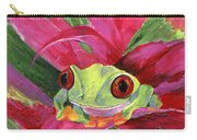 Ruby The Red Eyed Tree Frog Carry-all Pouch