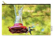 Ruby-throated Hummingbird 2 - Impasto Carry-all Pouch