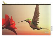 Ruby-throated Hummingbird - 3d Render Carry-all Pouch