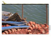 Ruddy Turnstones Perching On Fishing Nets Carry-all Pouch