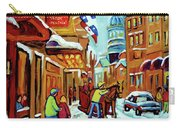 Rue St Paul Montreal Streetscene Cafes And Caleche Carry-all Pouch