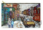 Achetez Les Petits Formats Scenes De Montreal St Viateur Bagel And Cola Truck Buy Montreal Painting  Carry-all Pouch