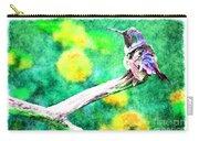 Ruffled Hummingbird - Digital Paint 5 Carry-all Pouch