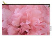Ruffled Pink Rose Carry-all Pouch