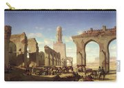 Ruins Of The Mosque Of The Caliph El Haken In Cairo Carry-all Pouch by Prosper Georges Antoine Marilhat
