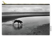 Running Dog Bw Carry-all Pouch