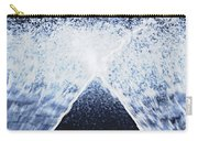 Running Water On Black Background Carry-all Pouch