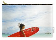 Running With Surfboard Carry-all Pouch