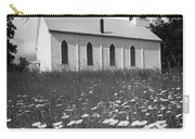 Rural Church In Field Of Daisies Carry-all Pouch