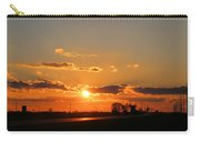 Rural Il Sunset Reflections Carry-all Pouch