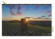 Rushup Edge From Mam Tor Summit Sunset Carry-all Pouch