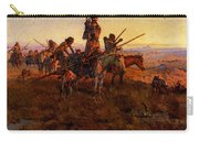 Russell Charles Marion In The Wake Of The Buffalo Hunters Carry-all Pouch