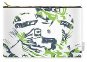 Russell Wilson Seattle Seahawks Pixel Art 10 Carry-all Pouch