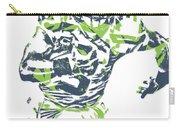 Russell Wilson Seattle Seahawks Pixel Art 12 Carry-all Pouch