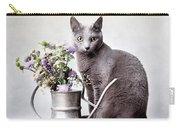 Russian Blue 02 Carry-all Pouch by Nailia Schwarz