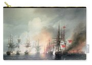 Russian Turkish Sea Battle Of Sinop Carry-all Pouch by Ivan Konstantinovich Aivazovsky