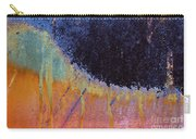 Rust Abstract With Curved Line Carry-all Pouch