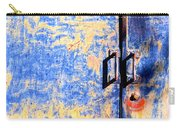 Rusted Blue And Yellow Door Carry-all Pouch