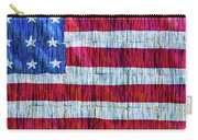 Rustic American Flag Carry-all Pouch