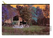Rustic Barn In Disrepair False Color Infrared Carry-all Pouch