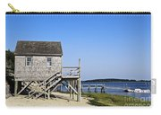Rustic Boathouse On The Beach. Carry-all Pouch