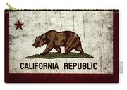 Rustic California State Flag Design Carry-all Pouch