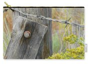 Rustic Fence And Wild Flowers Montana Carry-all Pouch