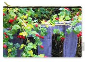 Rustic Fence And Wild Rosehips Carry-all Pouch