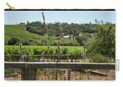 Rustic Fence In Wine Country Carry-all Pouch