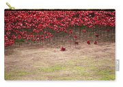 Rustic Poppy Garden Carry-all Pouch