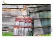 Rustic Rain Barrel At Old World Wisconsin Carry-all Pouch