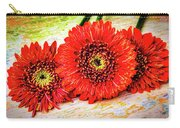 Rustic Red Dasies Carry-all Pouch