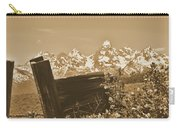 Rustic View Of Grand Teton Carry-all Pouch