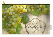 Rustic Vineyard - Chardonnay White Wine Grapes Vintage Style Carry-all Pouch