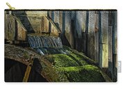 Rustic Water Wheel With Moss Carry-all Pouch