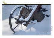 Rustic Wheel In The Snow#2 Carry-all Pouch