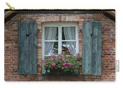 Rustic Window And Red Bricks Wall Carry-all Pouch by Yair Karelic