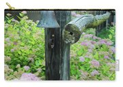Rusty Bell On Weathered Fence Carry-all Pouch