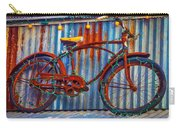 Rusty Bike With Lights Carry-all Pouch