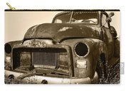 Rusty But Trusty Old Gmc Pickup Truck - Sepia Carry-all Pouch by Gordon Dean II