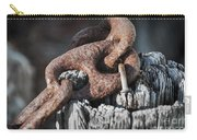 Rusty Iron Chain Railing Fragment Carry-all Pouch